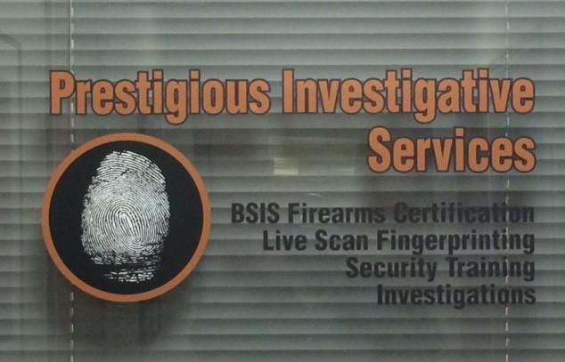 Prestigious Investigative Services Inc  Upland Ca 91784 (909)303-3153